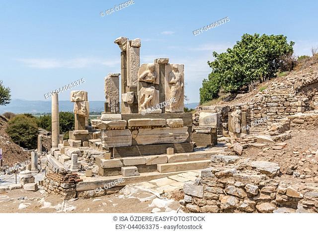Memmius Monument at Ephesus historical ancient city, in Selcuk, Izmir, Turkey