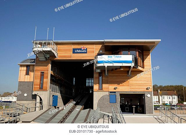 Kingston Beach Newly constructed lifeboat house opposite the harbour entrance