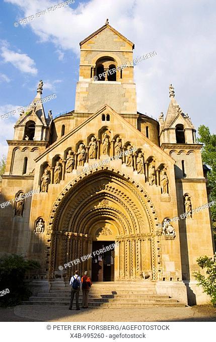Japi Kapolna church in Varosliget the City Park in Budapest Hungary Europe