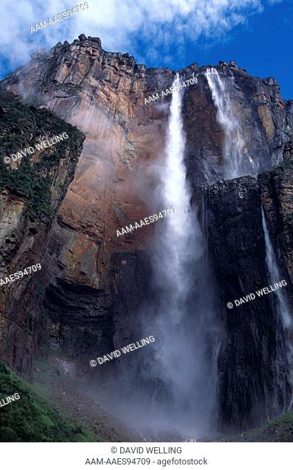 Angel Falls & Clouds Canaima National Park Venezuela