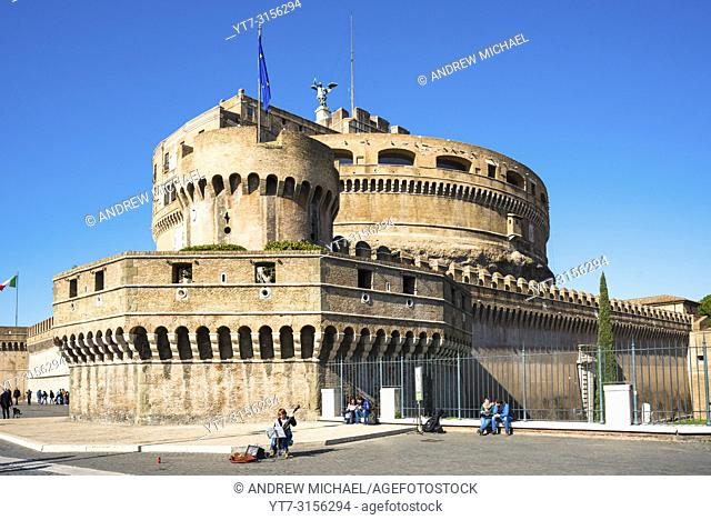 Castel Sant'Angelo (Castle of Holy angel). Rome. Lazio. Italy