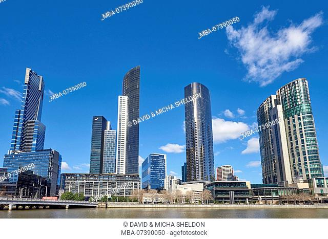 Skyscraper (Eureka Tower) at Yarra River, Cityscape, Melbourne, Victoria