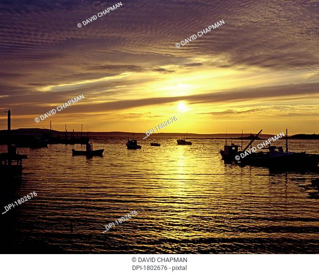 Indian Harbour at sundown, Nova Scotia
