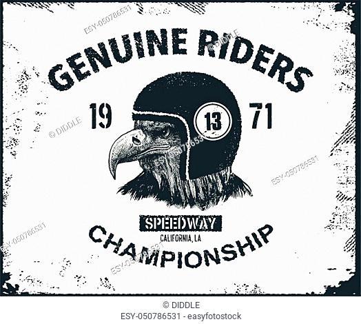 Vintage typography design for biker club. Vector illustration