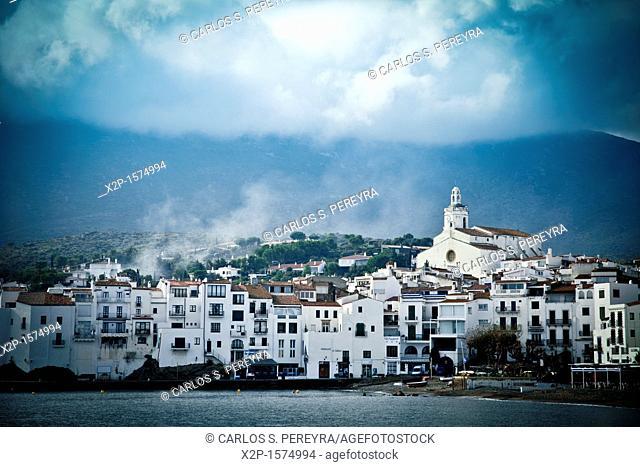 View of the Bay and the town of Cadaqués in Cap de Creus, Girona, Spain