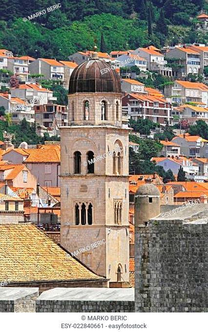 Church tower Dubrovnik