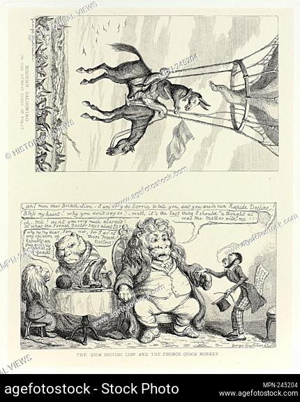 Modern Ballooning, or the Newest Phase of Folly from George Cruikshank's Steel Etchings to The Comic Almanacks: 1835-1853 (top) - 1851, printed c