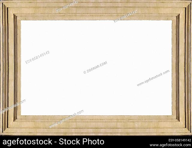 White frame background with decorated molding design borders