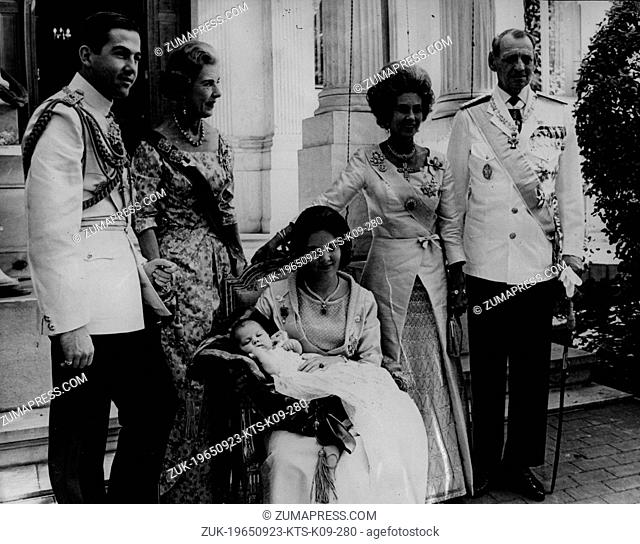 Sep. 23, 1965 - Athens, Greece - The christening of PRINCESS ALEXIA, the daughter of KING CONSTANTINE II and QUEEN ANNE-MARIE