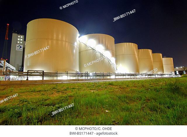 silos at Port of Hamburg, Germany, Hamburg