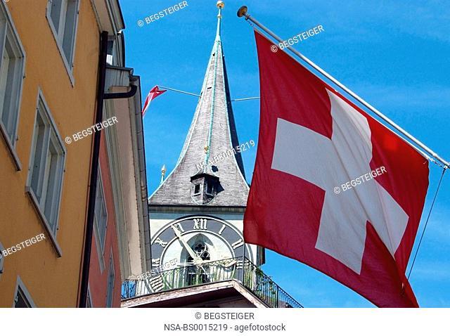 Zurich, Swiss flag
