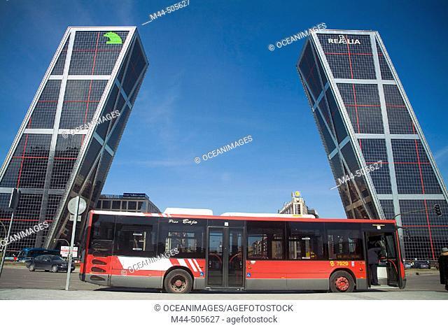 Kio Towers, Plaza Castilla. Madrid. Spain