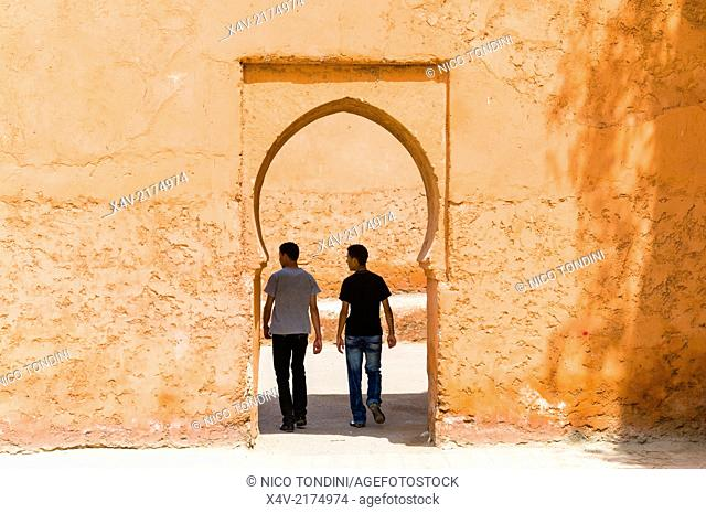 Gate of the City Ramparts, Marrakech (Marrakesh), Morocco, North Africa, Africa