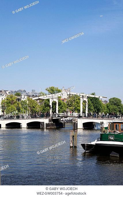 Netherlands, County of Holland, Amsterdam, Magere Brug, river Amstel