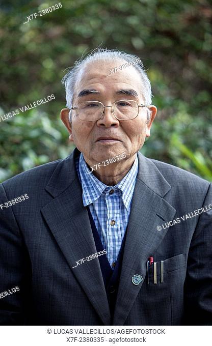 Yukio Yoshioka, born in 1929, a Hiroshima Atomic Bomb Survivor, Hiroshima, Japan
