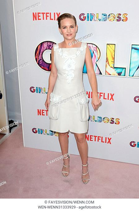 Premiere of Netflix's 'Girlboss' - Arrivals Featuring: Britt Robertson Where: Hollywood, California, United States When: 18 Apr 2017 Credit: FayesVision/WENN