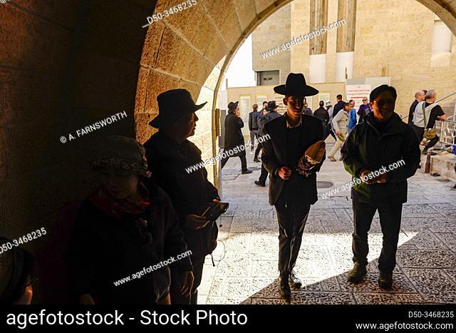 Jerusalem, Israel Pedestrians at the Western Wall