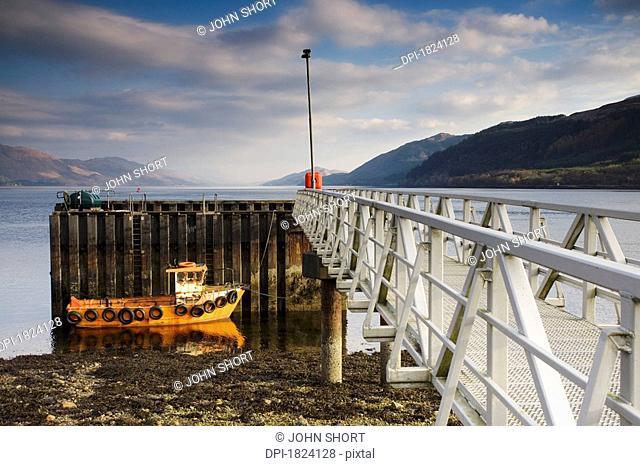 Fishnish ferry terminal on the Isle of Mull, Scotland