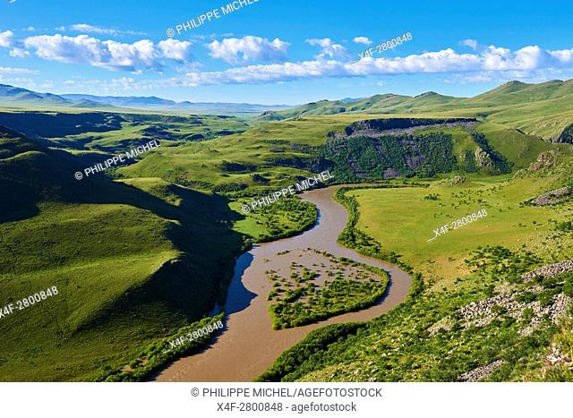 Mongolia, Arkhangai province, Orkhon river gorge