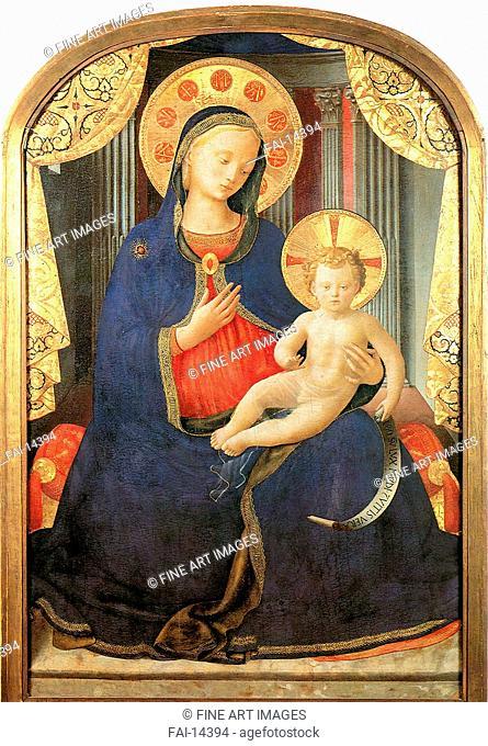 Madonna and Child. Angelico, Fra Giovanni, da Fiesole (ca. 1400-1455). Tempera on panel. Renaissance. 1433. Pinacoteca Sabauda, Turin. 100x60