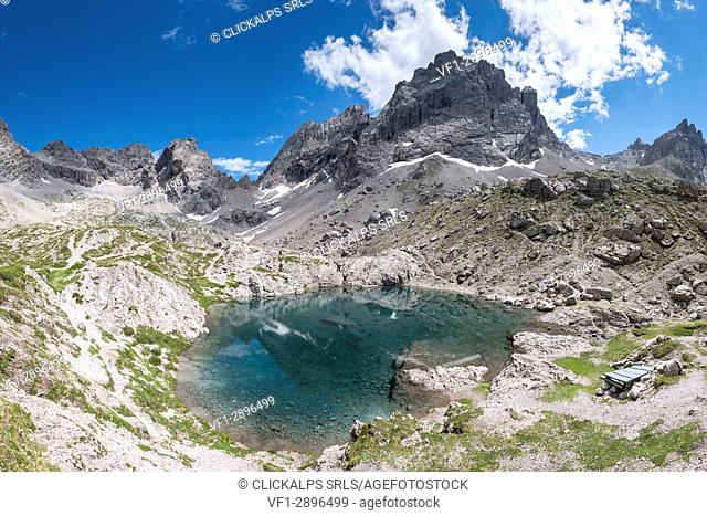 Lienz Dolomites, East Tyrol, Austria. The Lake Laserz