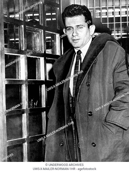 New York, New York: November, 1960.Author Norman Mailer leaving jail after being arrested