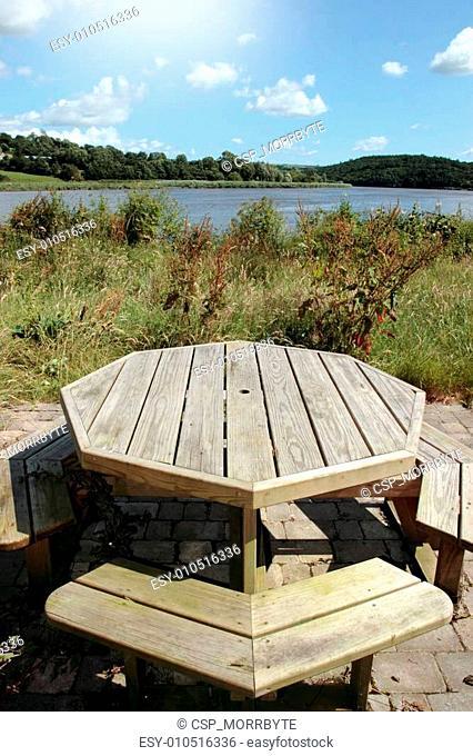 picnic bench view