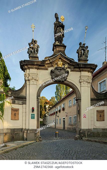 Gate to Strahov monastery, Prague, Czech Republic