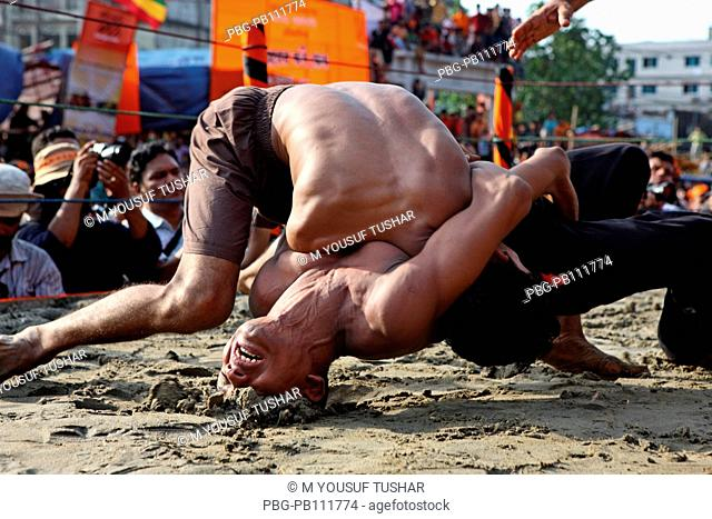 The Jabbar er boli khela, a century old wrestling competetion is one of the oldest traditions of the port city of Chittagong in Bangladesh