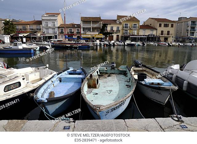 the harbor at the seashore town of Meze