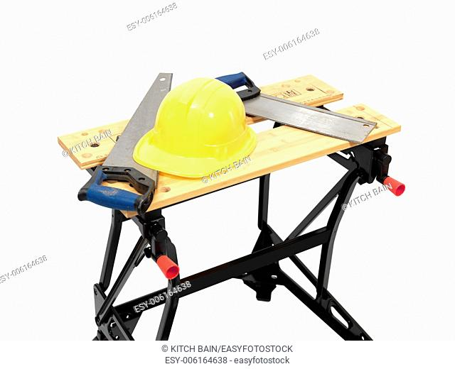 A work bench isolated against a white background