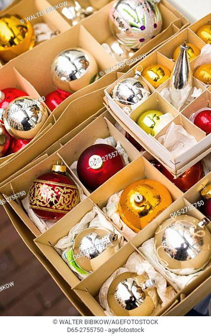 Netherlands, Amsterdam, Christmas ornaments
