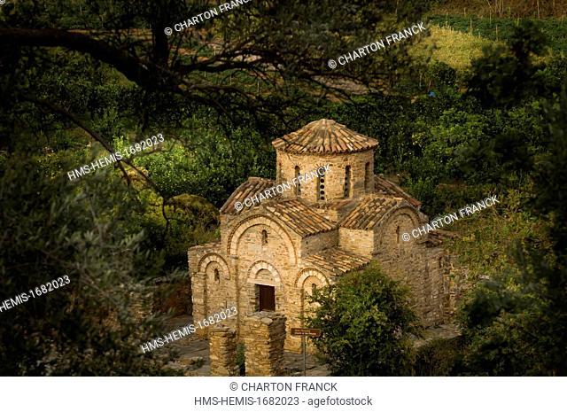 Greece, Crete, byzantine chapel of Fodele, near Heraklion