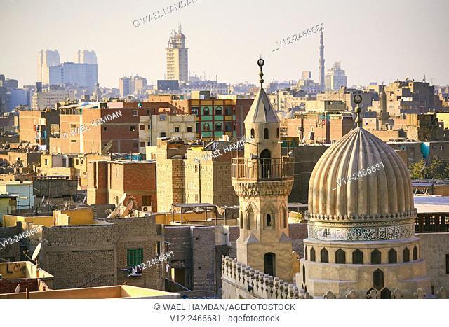 Higher view of Islamic Cairo, Cairo, Egypt