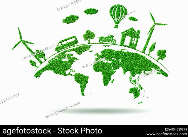The concept of environmental protection - 3d rendering