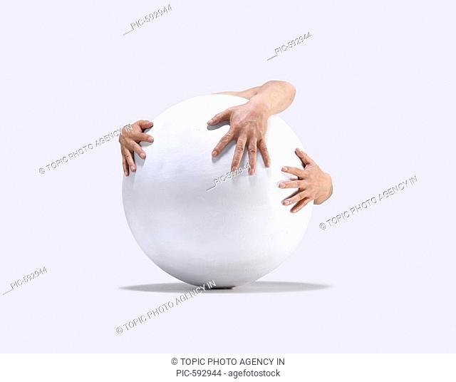 Hands Embracing Globe