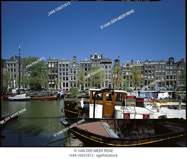 10631812, Amsterdam, boats, Eilandsgracht, facades, Gracht, houses, homes, Holland, canal, channel, Netherlands, town, city