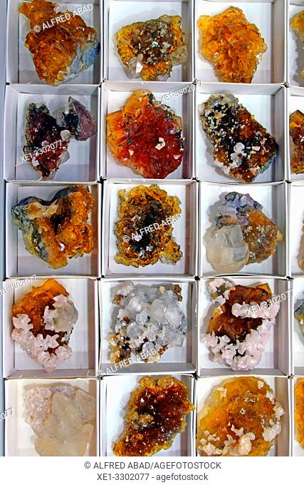 collection of mineral pieces