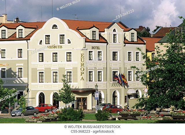Theatre square. Klaipeda. Lithuania