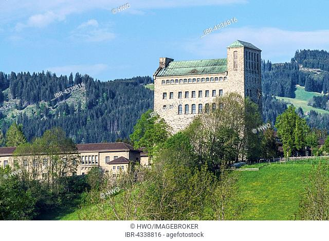 Palas with bell tower, NSDAP Ordensburg Sonthofen castle, 1935-45 Adolf Hitler School for the training of the National Socialist Party cadres