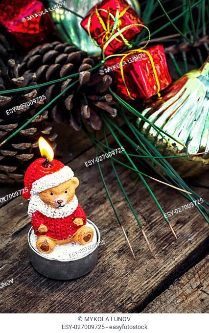 Retro Christmas decorations and toys for the Christmas season