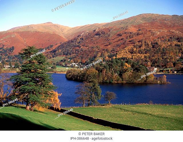 Cumbria - Autumn view of Grasmere Lake