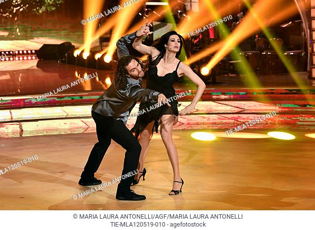 Manuela Arcuri during the performance at the tv show Ballando con le setelle (Dancing with the stars) Rome, ITALY-11-05-2019