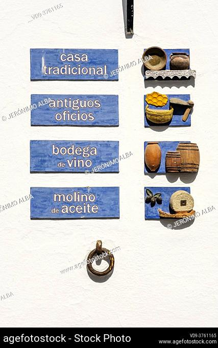 Casa Museo, Museum traditional arts. White village Mijas, Malaga province, Costa del Sol, southern Andalusia. Spain Europe