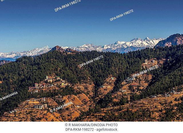 Snow covered mountains, mashobra, himachal pradesh, india, asia