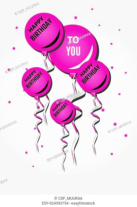 balloons and happy birthday