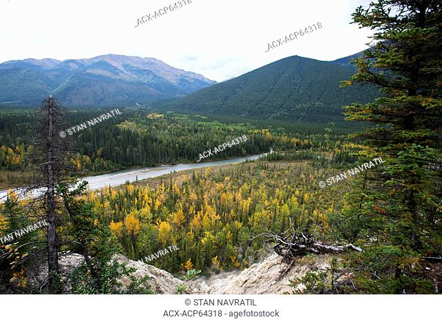Valley of Trout River, Muncho Lake Provincial Park, Highway 97- Alaska Highway, Northern British Columbia, Canada