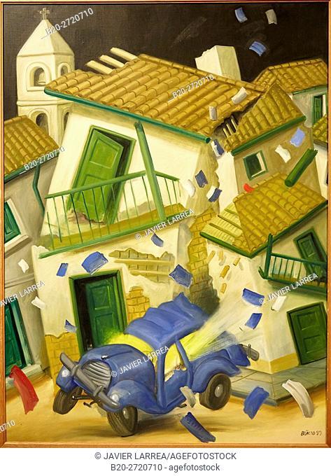 """""""Car Bomb"""", 1999, Fernando Botero, Museo de Antioquia, Medellin, Antioquia, Colombia"""