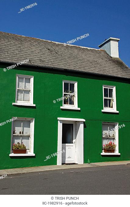 a green house in allihies village on the beara peninsula in west cork, county cork ireland