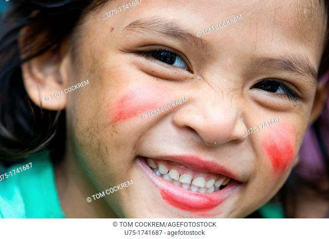 Young girl in Parian, Cebu City, Philippines